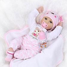 Babypuppe ZIYIUI Mädchen Puppe Lebensecht Reborn Silikon 55cm B-WARE OVP fehlt