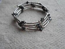 Handmade ~ Wrap ~ Bracelet ~ Haematite & Silver