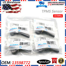 4x OEM TPMS 13598772 Tire Pressure Monitoring Sensors for GM Chevy Silverado GMC