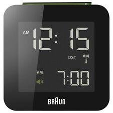 Braun BNC009 Funkwecker schwarz LCD-Display 12/24 Stunden NEU