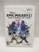 Disney Epic Mickey 2: The Power of Two (Nintendo Wii, 2012) BRAND NEW SEALED