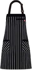 """Alipobo Aprons for Women and Men, Kitchen Chef Apron with 3 Pockets and 40"""" Long"""