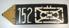 US Army WW2 Pointer Road Sign to a Battalion in an Armored Infantry Division 152
