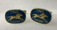 Vintage 1970s TRC Centenary CUFFLINKS Tasmanian Horse Racing Club Australian