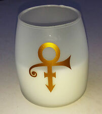PRINCE CANDLE Frosted GLASS Large White NPG STORE London LARGE rare