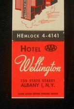 1950s Hotel Wellington 136 State Street Albany NY Matchbook New York