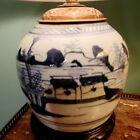 C.1860 Chinese Canton Ginger Jar Lamp
