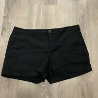 Old Navy Womens Shorts Sz 12 Black Chino Casual Short Classic IA37