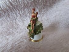 STERLING CLASSIC Flower fairy thimble - Oak/Acorn