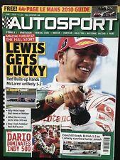 Autosport Magazine 3 June 2010 Hamilton Wins Turkish F1 GP Franchitti Indy 500