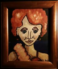 DMVAG  Canvas Prints of oil painting  Lady At The Gala 8x10 signed wood frame