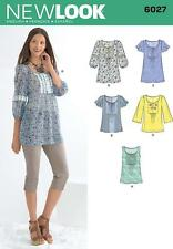 NEW LOOK SEWING PATTERN Misses' TOPS & TUNICS  SIZE 10 - 22 6027
