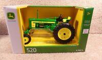 Vintage ERTL 1/16 Scale Diecast John Deere 520 Wide Front Tractor #36961