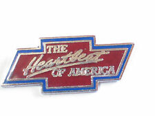 The Heartland of America Chevrolet Bowtie Pin Badge, Auto Lapel Pin