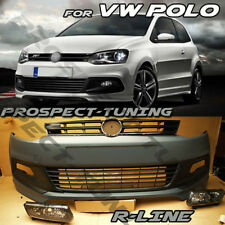 NEW VW POLO 6 R STYLE LOOK FRONT BUMPER FOR VW POLO 09-14 UK STOCK