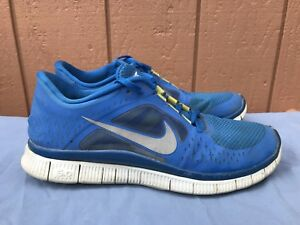 Nike Free Run 3 Men's US 10 Running Shoe Soar Blue Reflect Silver 510642-401 A4