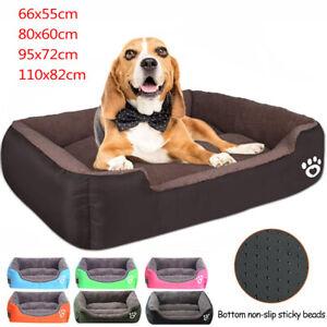EXTRA LARGE DOG BEDS WASHABLE PET CUSHION HOUSE SOFT WARM KENNEL BLANKET NEST UK