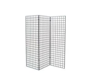 Grid Wall Z Unit 3 Panels Black 72x24in. Durable Rust Resistant Storage Display