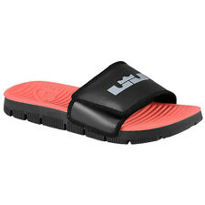 NIKE FLEX MOTION SIGNATURE GS Slide Youth Boys Size 1 Black Red Lebron New Box