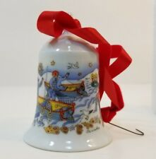 Fishing Village Porcelain Christmas Bell '84 1984 Germany Weihnachts-Glocke