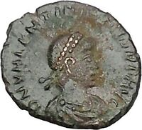 Valentinian II 388AD Ancient Roman Coin Victory i42709