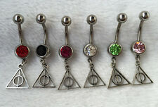 6pcs Handmade Harry Potter belly button jewelry Dangle navel ring Body jewelry