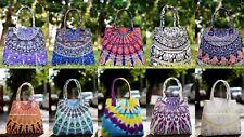 Señoras Mujeres Suave Mandala impresión Hombro Shopper Bolso Cartera Bolso de mano India