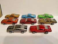 HOT WHEELS RED LINE MUSTANG LOT OF 8 ,V series close to MINT,Rainbow collection.