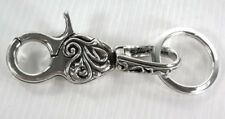 NEW TRIBAL TATTOOS STERLING SILVER MENS KEY CHAIN WALLET HOLDER KEYCHAIN BIKER