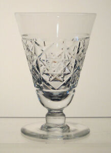 "WEBB ENGLAND CRYSTAL Footed Juice, Oyster Cocktail, Sherry 4 1/4"", c1950-1966"