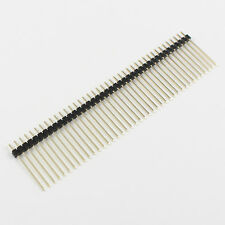 10Pcs Gold Plated 2mm Pitch Male 40 Pin Single Row Long Pin Header Strip 19mm