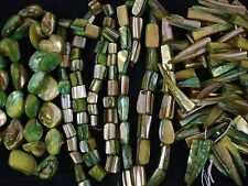 Mother of Pearl Beads 4 x Asst 35cm Strands Lime Necklace Shell FREE POSTAGE
