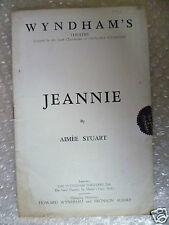 Theatre Programme JEANNIE; Aimee Stuart,Barbara Mullen,Dane Gordon