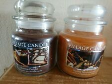 SALE OFFER - Set Of 2 Medium Village Candle Rare Treasures - LAST SET!