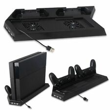 Vertical Cooling Fan Stand Bracket with Dual Controller Charger For PS4/PS4 Slim