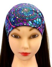 Dreamcatcher Feather Headband Rhinestones Stretch Fashion Headwrap Danbando