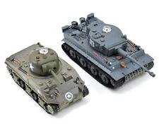 VS Tank VSX 1/72 Battle Tank Combo w/German Tiger I & US M4 Sherman Tanks