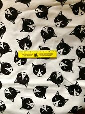 CAT  FACES   COTTON  FLANNEL   By the Yard