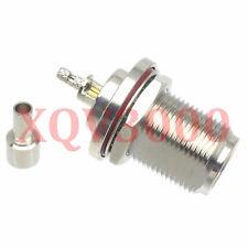 2pcs Connector N female jack pin bulkhead crimp for Rg316 Lmr100 Rg174 Coaxial