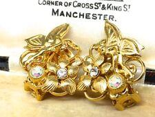 Vintage Kirks Folly Fairy AB Crystal Clip Earrings