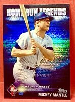 MICKEY MANTLE 2012 TOPPS REFRACTOR #HRL6 HOME RUN LEGENDS NEW YORK YANKEES HOF