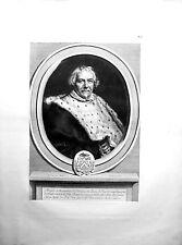 Burin de EDELINCK d'après J. Van Oost, Portrait de Rémi Du Laury, 1677