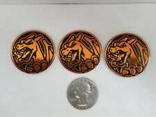 3x Brand New & Unused Charizard Gx Pokemon Official Collectible Coin Sm60