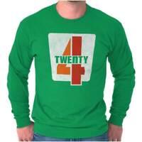 420 Funny Stoner Marijuana Weed Pot Smoker Long Sleeve Tshirt Tee for Adults