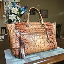 "❤ ❤HARD TO FIND! BRAHMIN ""ANNA"" SATCHEL TOASTED ALMOND MELBOURNE BAG❤"