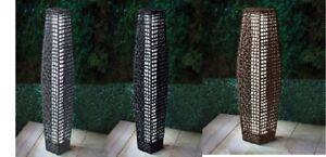 69cm Outdoor Floor Lamp Garden Rattan Effect Solar Powered Lights Decoration