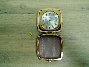 Vintage Travel Alarm Clock Bundle Coral Equity Europa Cased Spares Repairs
