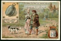 Middle Ages Pocket Watch Time Clock c1905 Trade Ad Card