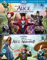 ALICE IN WONDERLAND 1 & 2 [Blu-ray] 2-Movie Box Set Through The Looking Glass