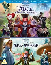 ALICE IN WONDERLAND 1 & 2 [Blu-ray] 2-Movie Box Set Through The Looking Glass